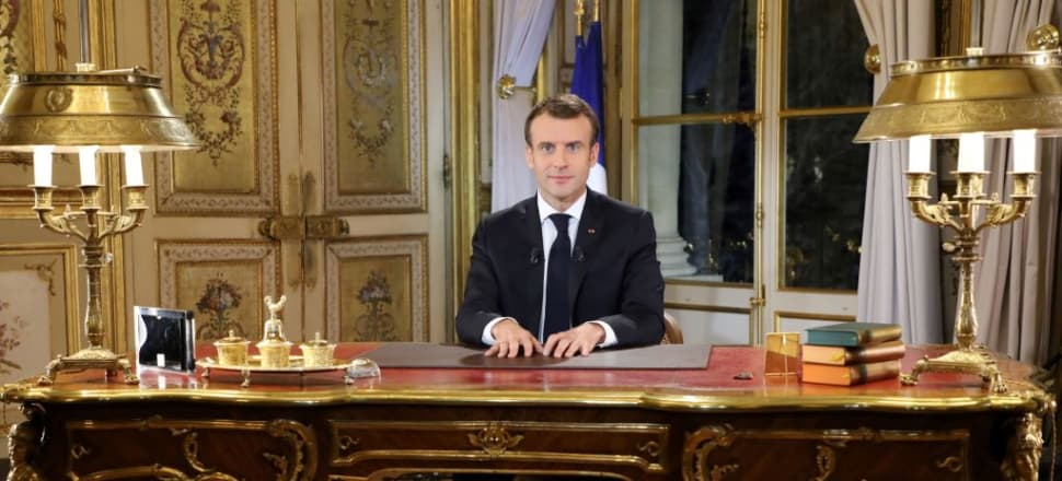 After a golden start, French President Emmanuel Macron has gone from saviour to mere mortal. Photo: AFP/Getty Images