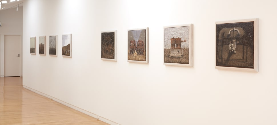 Installation view of the exhibition Michael Shepherd, Suppose the future fails at Two Rooms, Auckland. Photo: Sam Hartnett, courtesy the artist and Two Rooms