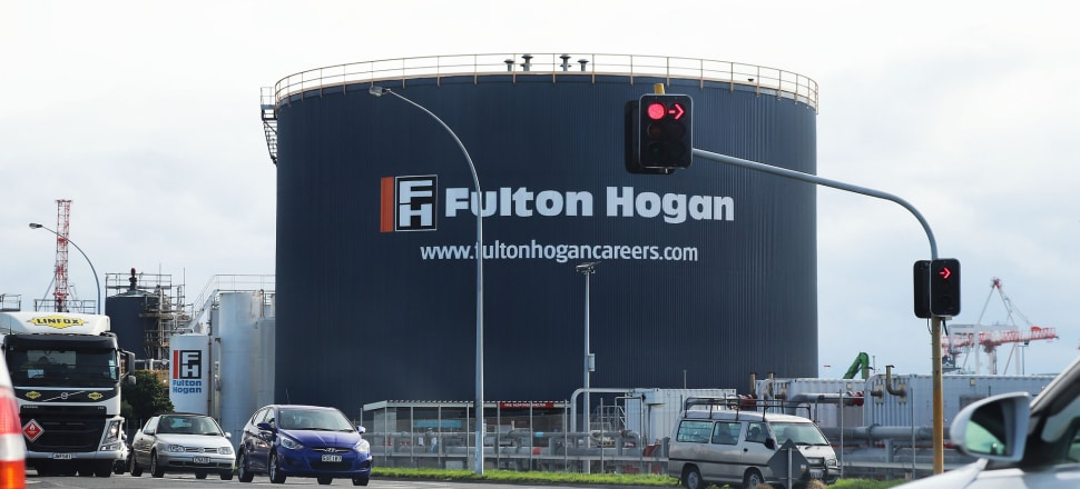 Fulton Hogan site in Tauranga. Photo by Lynn Grieveson