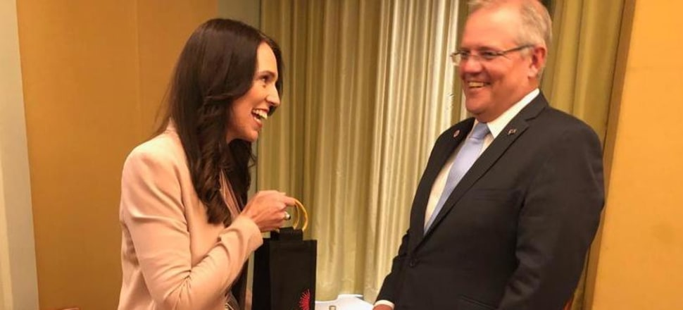 Jacinda Ardern had her first face-to-face meeting with Australian Prime Minister Scott Morrison. Photo: Prime Minister's Office/Supplied
