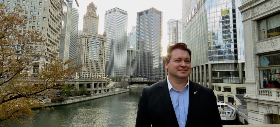 New Zealander Daniel Thomas in his adopted home city of Chicago. Photo: Teuila Fuatai.
