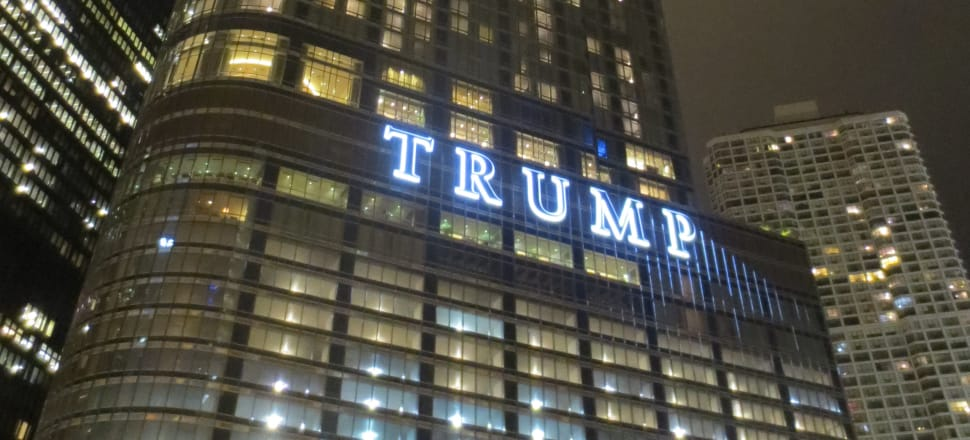 The Trump Tower in Chicago can be an imposing mass on the river edge. Photo: Edward Stojakovic