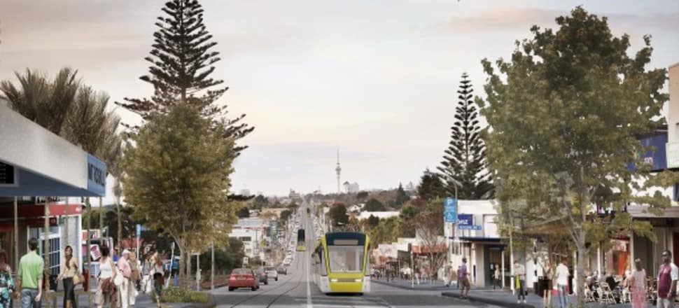 NZ Transport Agency's vision of light rail along Dominion Rd looks cleaner and less chaotic than opponents picture it. Photo: NZTA