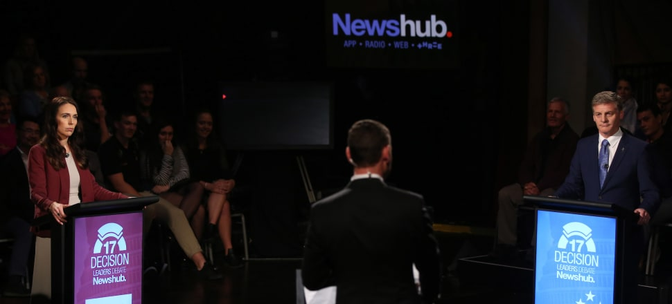 A boisterous studio audience and aggressive leaders delivered a fiery second debate. Photo: Supplied by Newshub.
