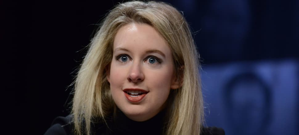 Before the downfall: Elizabeth Holmes, Founder & CEO of Theranos, speaks at the Forbes Under 30 Summit in 2015. Photo: Getty Images