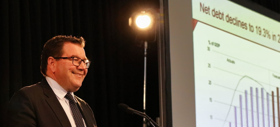 Finance Minister Grant Robertson presents his Half Yearly Fiscal and Economic Update (HYEFU) Photo by Lynn Grieveson.