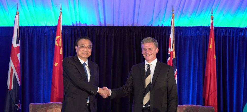 Bill English and Li Keqiang signed a Belt and Road cooperation agreement earlier this year - but one Chinese bank says we are running the risk of missing the bandwagon. Photo: Supplied.