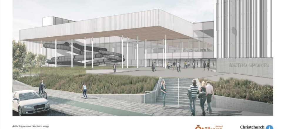 An artist's impression of the metro sports facility in Christchurch. Photo: Christchurch City Council