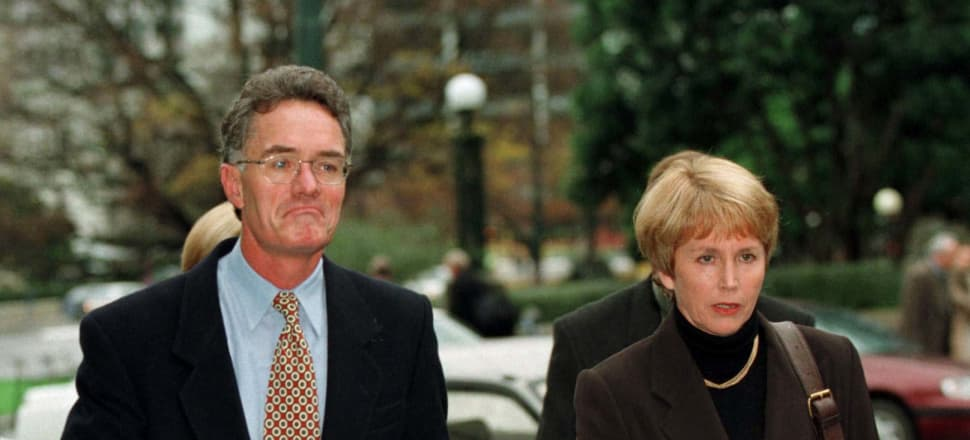 Parents of Olivia Hope, Gerald and Jan Hope arrive at the Wellington High court for the first day of the murder trial of Scott Watson. Photo: Barry Durrant/Getty Images