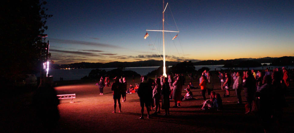 Upwards of a thousand people gathered at the Treaty Grounds for the annual Waitangi Day dawn service. Photo: Sam Sachdeva