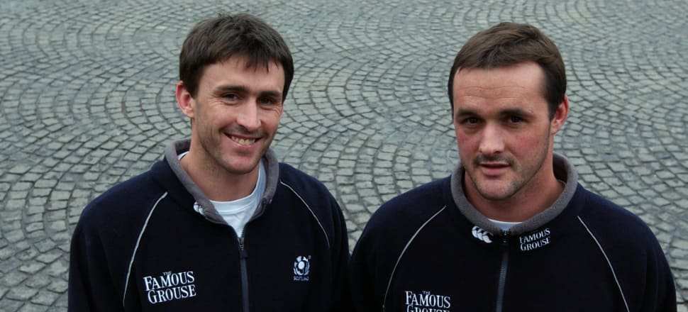 Scotland internationals John (left) and Martin Leslie were born in Lower Hutt. Their father Andy captained the All Blacks. Photo: Getty Images
