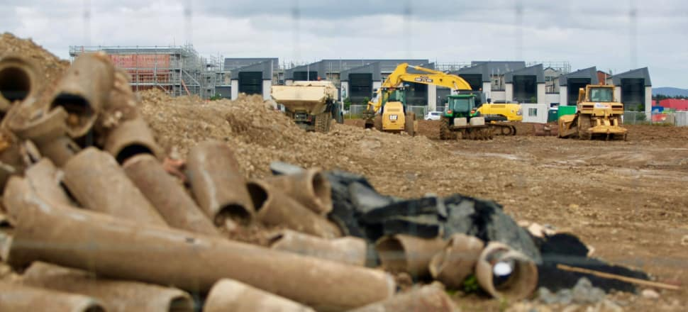 The Government plans to ramp up house building, but has conceded it will have to bring in more foreign workers to do so. Photo: John Sefton