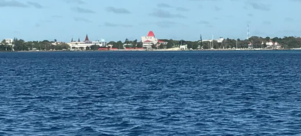 The new St George Palace looms large over the Nuku'alofa township.  Photo: Tim Murphy