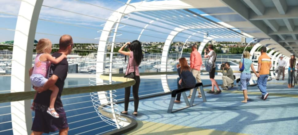 SkyPath is the missing link in Auckland's cycling network. Photo: Reset Urban Design
