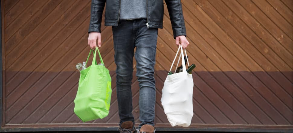 Cloth and cotton reusable bags are durable and washable, making them a great alternative to plastic. Photo: Getty Images