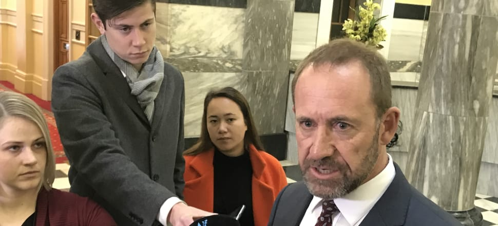 Justice Minister Andrew Little fronts media during an embarrassing back down on his three strikes plan. Photo: Shane Cowlishaw
