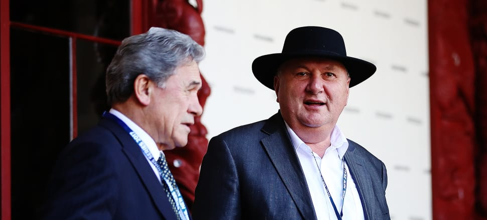 The NZ First leadership may one day pass to him from Winston Peters (L) but Shane Jones (R) says his immediate priority is to win Whangarei. Photo: Getty Images