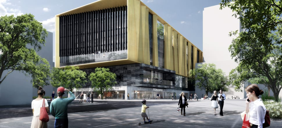 An artist's impression of how Christchurch's new central library, Tūranga, will look. Image: Christchurch City Council