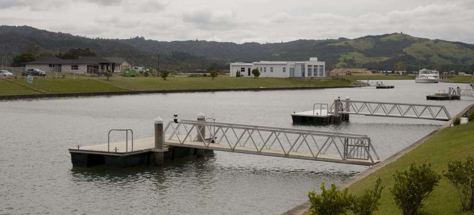 The flood risk for the Whitianga Waterways canals was done initially in 1998, modelled on 0.49m of sea level rise. Photo: Joe Dowling