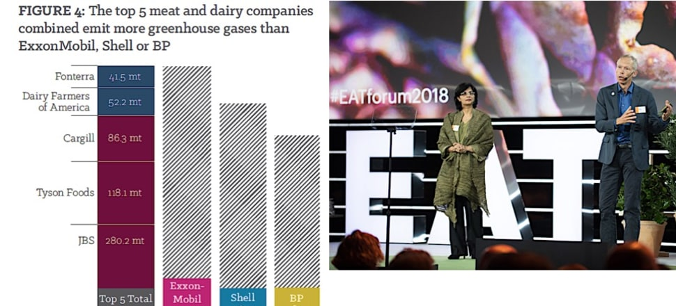 Current food systems damage the planet and human health: Dr Sania Nishtar of the World Health Organisation and Prof. Johan Rockström of the Stockholm Resilience Centre push for radically new systems. Photos: Grain, and EAT Foundation