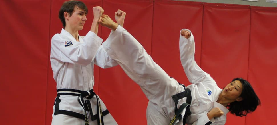 Former world taekwon-do champion Christine Young is preparing to compete for New Zealand at the World Cup in Sydney this month. Photo: supplied.