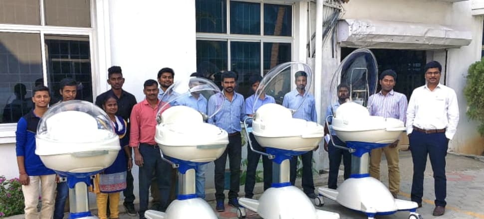 LifePod prototypes at the factory in Chennai. Photo: Supplied