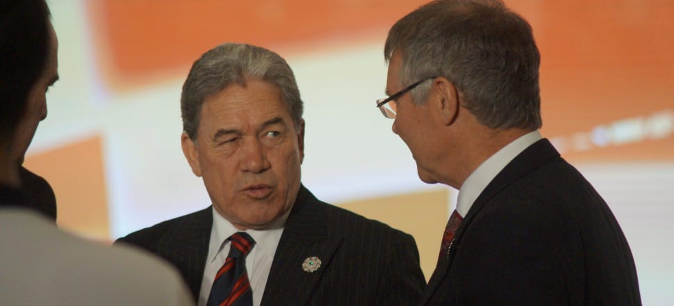Foreign Affairs Minister Winston Peters speaks to Trade and Export Growth Minister David Parker at the Apec summit in Da Nang, Vietnam. Photo: Sam Sachdeva.