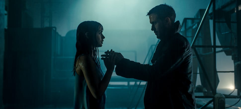 Not quite 'tears in rain', but moving. Ana de Armas with Ryan Gosling in Blade Runner 2019. Photo: Sony Pictures