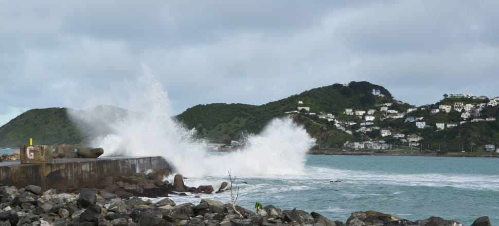 Today's once-in-a-century high tide is going to be breached every year in Wellington after 30cm of sea level rise. Photo: Getty Images