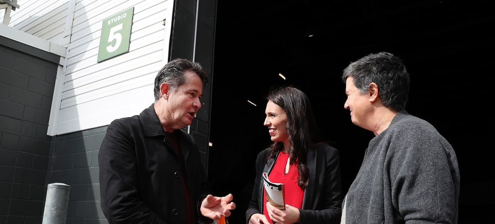 Labour leader Jacinda Ardern announces Labour's media and film policy at Auckland Film Studios in Henderson. Photo: Getty Images