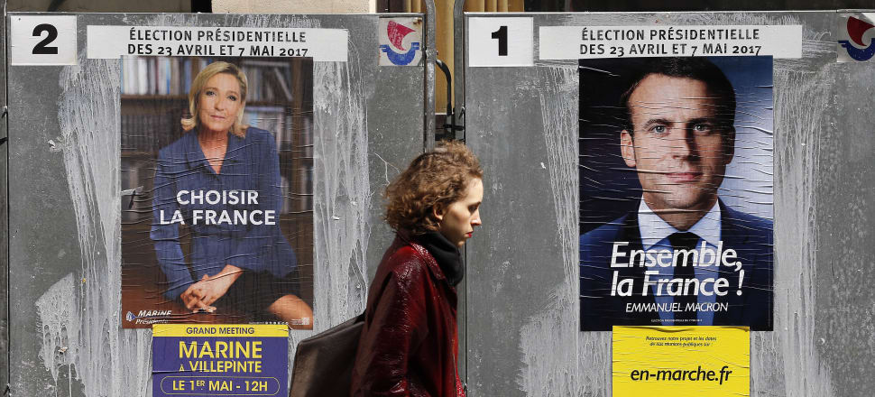 France's presidential election will raise either Marie Le Pen or Emmanuel Macron into one of the world's most powerful offices. Photo: Getty Images