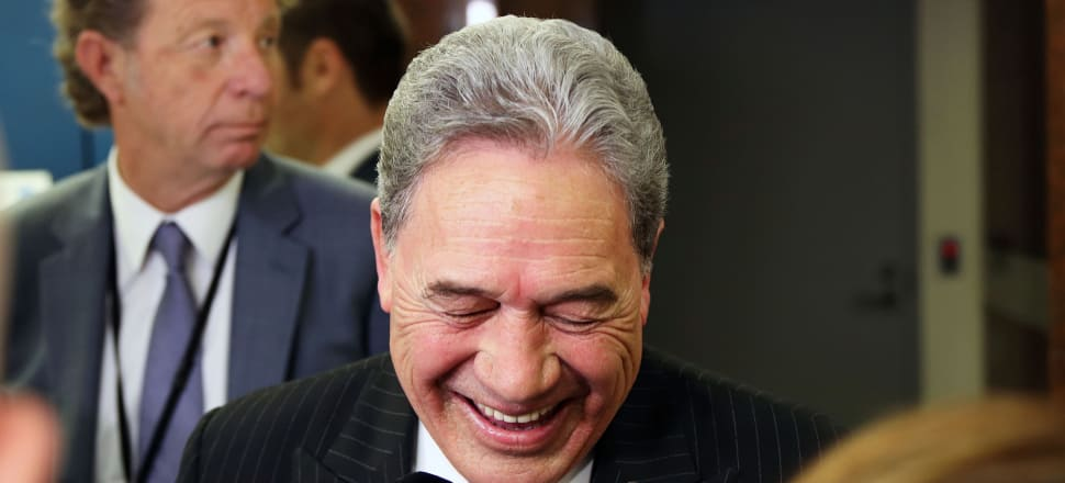 Winston Peters had cause for cheer after winning a $1 billion funding boost for MFAT - but newly released documents show Treasury cautioned against the spending. Photo: Lynn Grieveson.