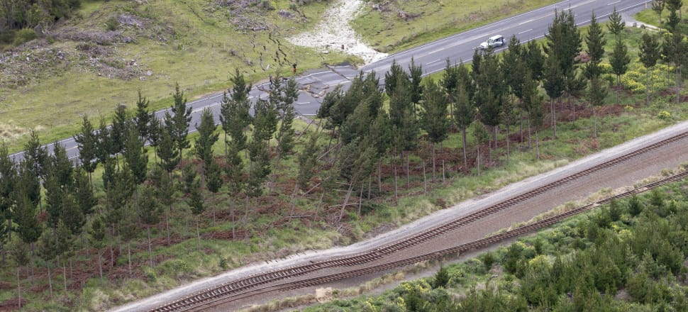 KiwiRail embarked on a herculean task when it set out to repair the destruction the Kaikoura earthquake caused. Photo: Getty Images