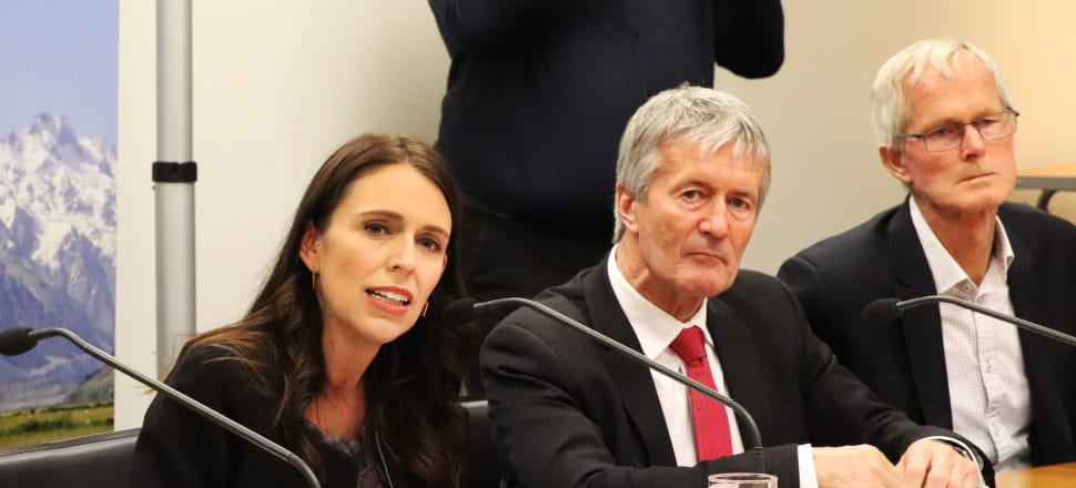 Prime Minister Jacinda Ardern and Minister for Primary Industries, Damien O'Connor announce the plan to eradicate M. Bovis. Photo: Lynn Grieveson.