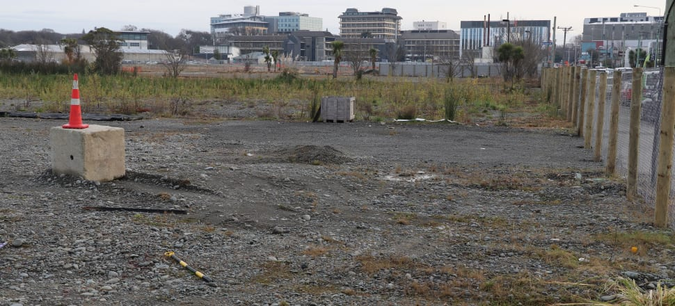 This central Christchurch site is earmarked for a metro sports facility. Photo: David Williams