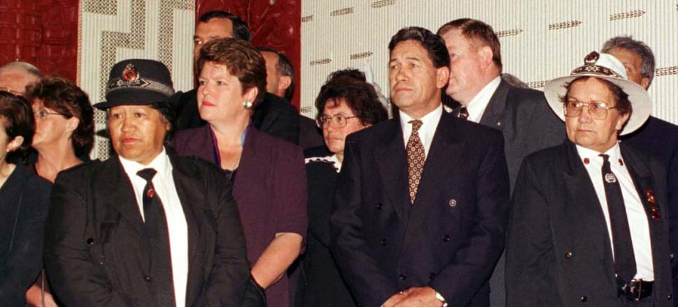 Winston Peters thought he'd signed up with Jim Bolger's National Party but in December 1997 ended up with Jenny Shipley's National Party. Photo: Getty Images