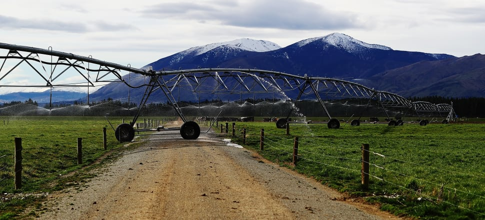 An irrigation system on a farm near Queenstown. Photo by Getty Images.