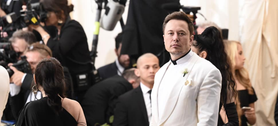 Tech titan Elon Musk attends this year's Met Gala. Photo: Getty Images