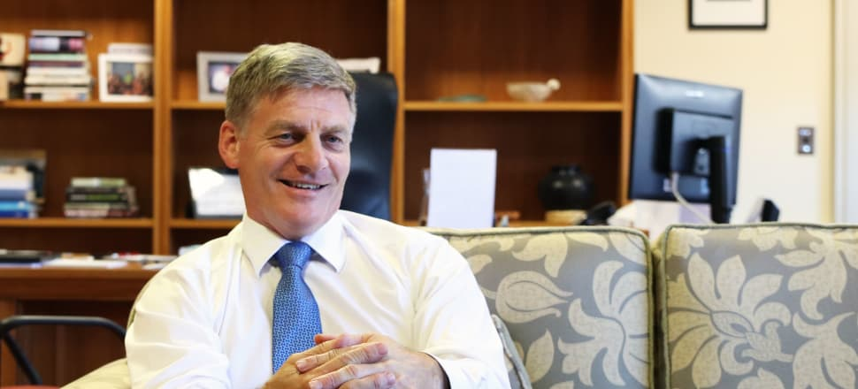 Opposition leader Bill English resigned with effect from February 27. He gave an exit interview in his Parliamentary offices to Newsroom. Photo by Lynn Grieveson