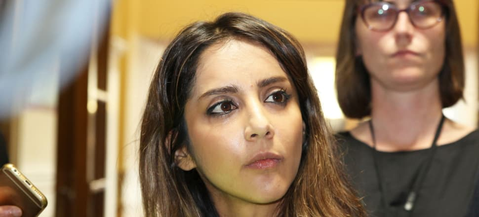 Green MP Golriz Ghahraman faces questions about her role as a lawyer in cases before the Rwanda genocide tribunal. Photo: Lynn Grieveson