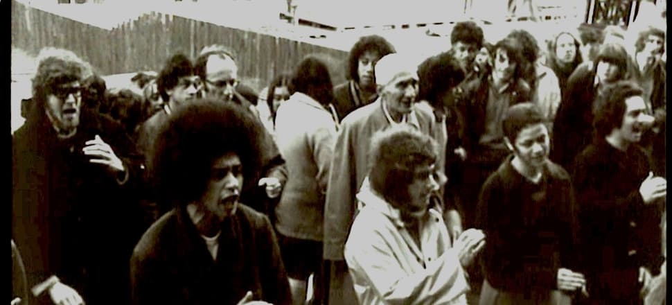 Protests became heated around the time of the 1972 petition. Te Reo Māori Society members present their petition before parliament on 14 September, 1972. Photo: Supplied