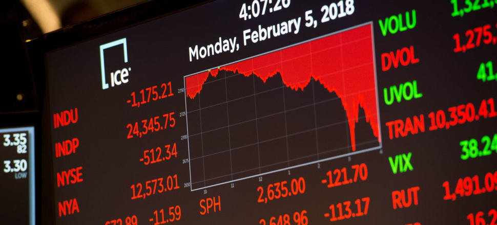 The Dow Jones Industrial Average closed down 1,175 points and was down more than 1,600 points in mid-afternoon trade -- its biggest points fall ever within a day's trade. But the fall of 4.6 percent is not so dramatic in historic terms, being only the 33rd biggest one-day fall in the history of the US stock market. Photo by Getty Images.