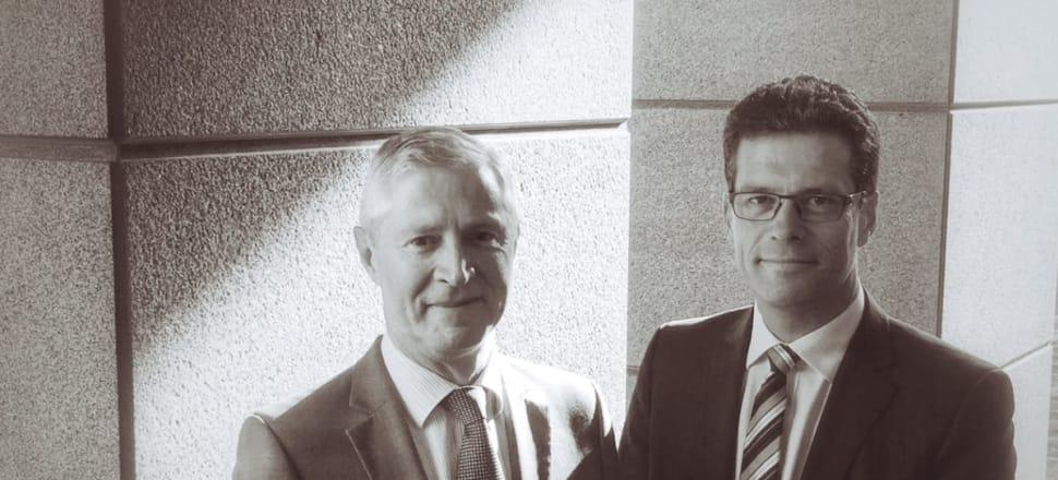 Newsroom co-editors Mark Jennings, left, and Tim Murphy. Photo: Newsroom