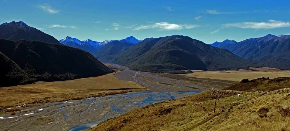 A view of Mt White Station's Riversdale Flats and the Waimakariri River, from what's known as Corner Knob. The Hawdon River emerges from between the mountains. Photo: Supplied