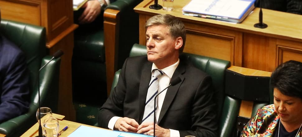 Prime Minister Bill English in Parliament minutes after effectively throwing National MP Todd Barclay under the bus to defend his own reputation. Photo by Lynn Grieveson.