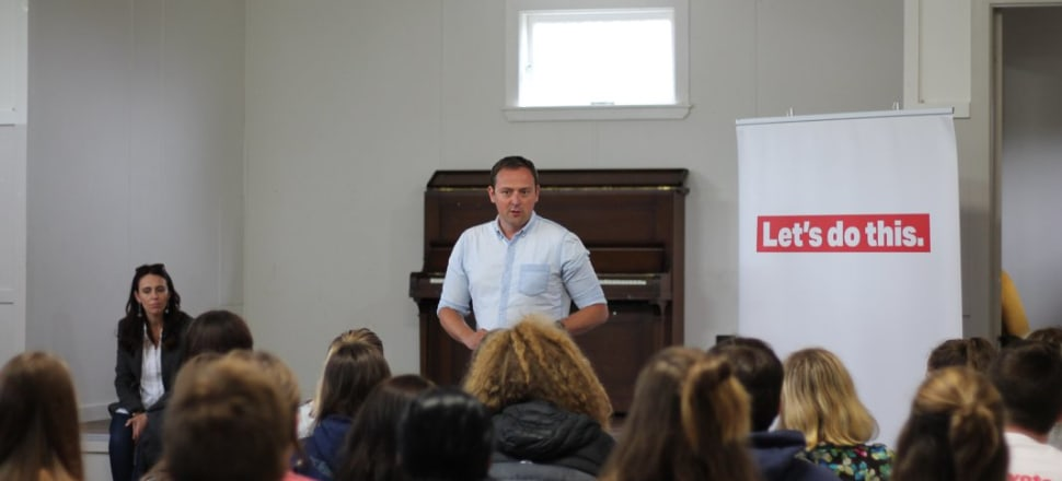 Labour's General Secretary Andrew Kirton addresses young supporters at this year's 'Summer Camp'. Photo: Facebook/Young Labour