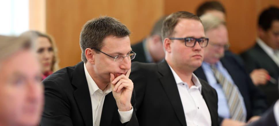 If extradited, Mathias Ortmann, left, and Bram van der Kolk, face prison sentences longer than most drug lords and murderers. Photo: Getty Images