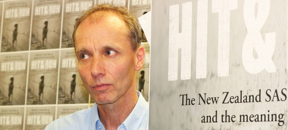 Nicky Hager at the Wellington launch of his book with Jon Stephenson of 'Hit and Run.' He describes the chilling effect on the writing of this book of the police raid after his previous book 'Dirty Politics'. Photo by Lynn Grieveson