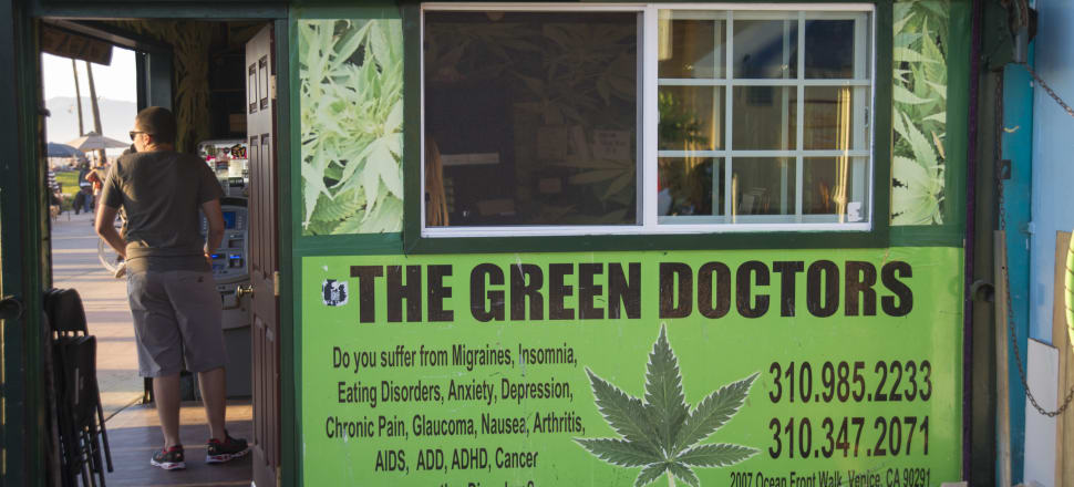 A 'Green Doctors' medical marijuana dispensary in California. Opponents of reform see a slippery slope to widespread recreational use, as seen in America. Photo by Getty Images