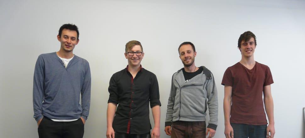 From left, Lukas Stoecklein, Ben Dunn, Zac Bird, Connor Broad. Photo: Supplied